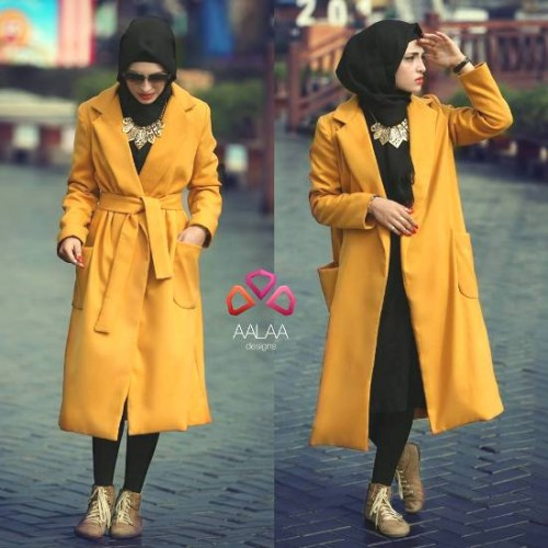 trench coat hijab style