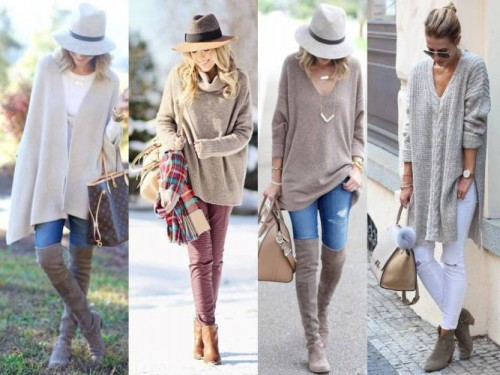 beige neutral street looks