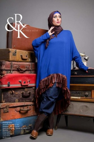 blue hijab sweater