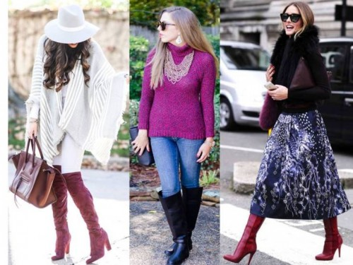 burgandy winter outfits