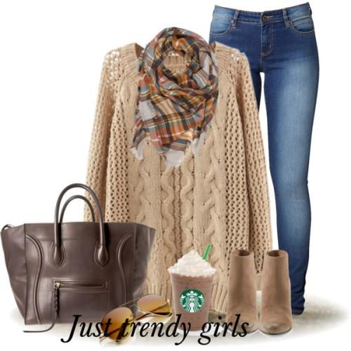 camel knit sweater scarf outfit ,