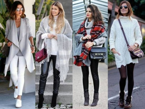 gray winter outfits