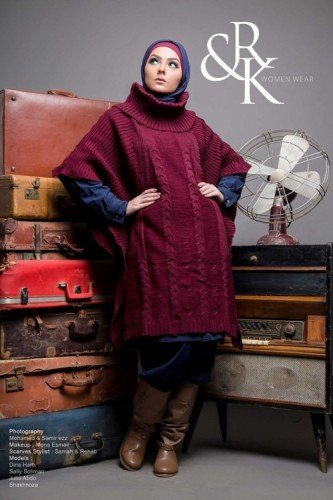 maroon hijab sweater