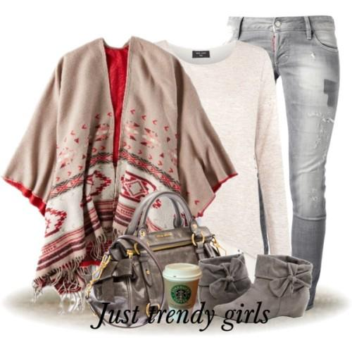 tribal poncho outfit,