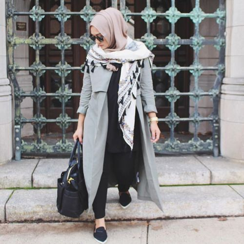 coat style sporty hijab