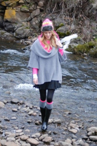 cowl poncho outfit