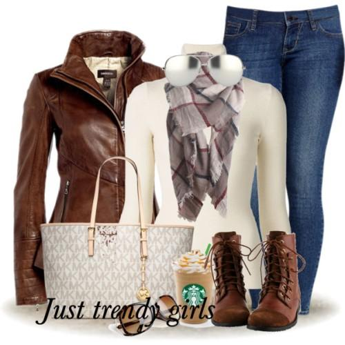 leather jacket casual outfit