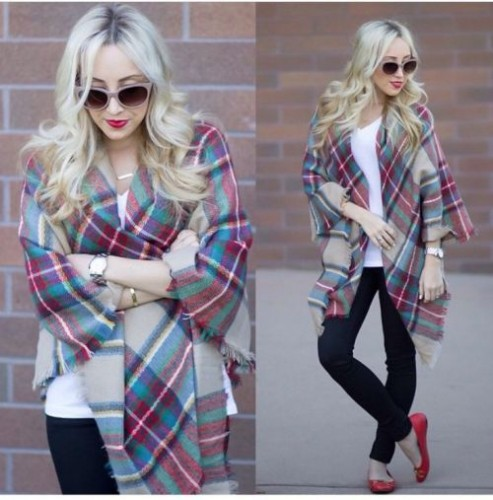 plaid scarf styling idea