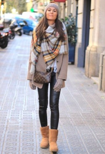 tartan scarf outfit