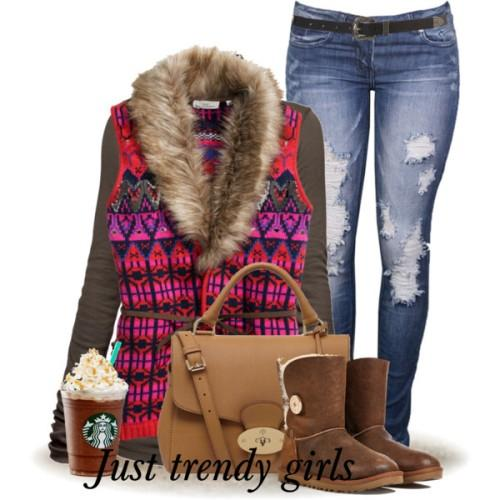 tribal fur vest outfit