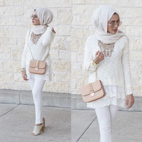 white on white hijab