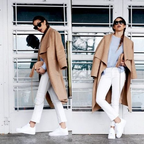white shoes sporty look