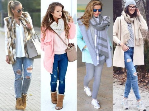 winter pastel colors looks