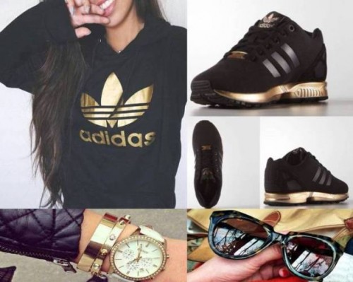 adidas black gold sweater- sneaker