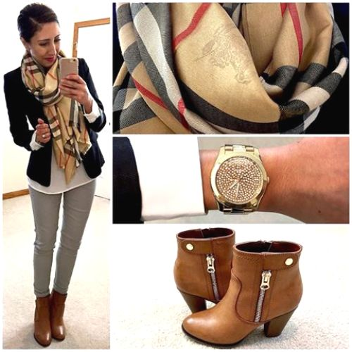 burberry scarf outfit