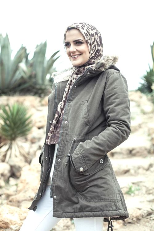 cargo jacket hijab look