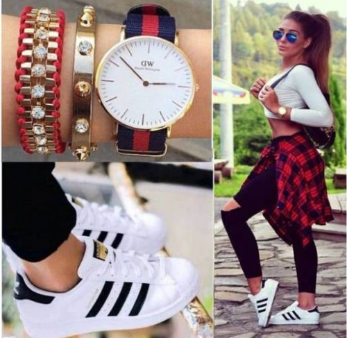 casual sporty adidas style