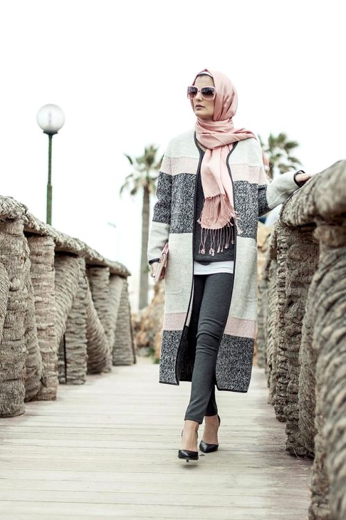 cute and chic hijab winter look