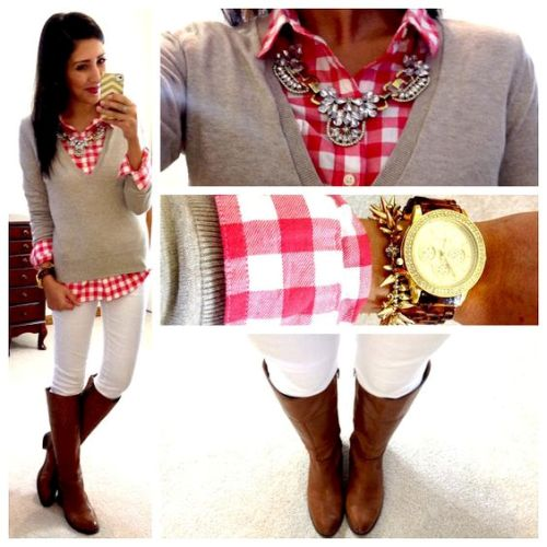 flannel and sweater outfit