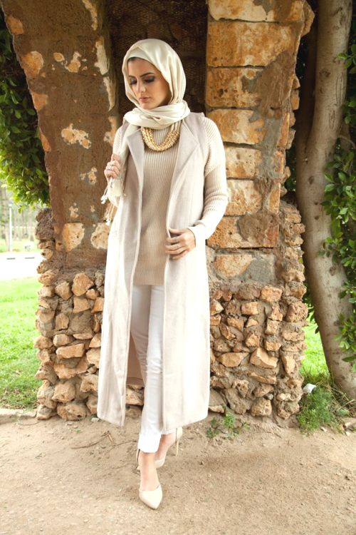 hijab white outfit