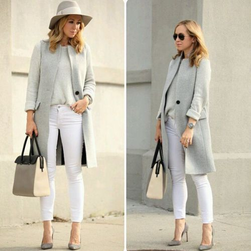 neutral smart casual look