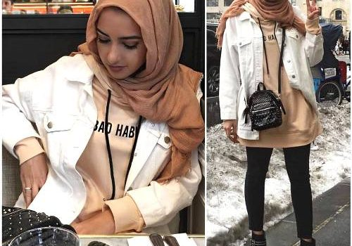 Hijab chic from the street