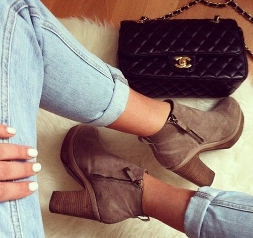 Fashionable Clothes Shoes Jeans Lipsticks Nail Polish: How To Wear Ankle Booties