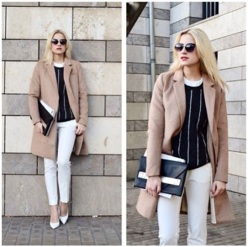 tan trench jacket outfit
