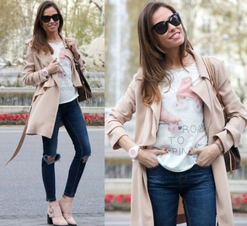 trench coat classy casual