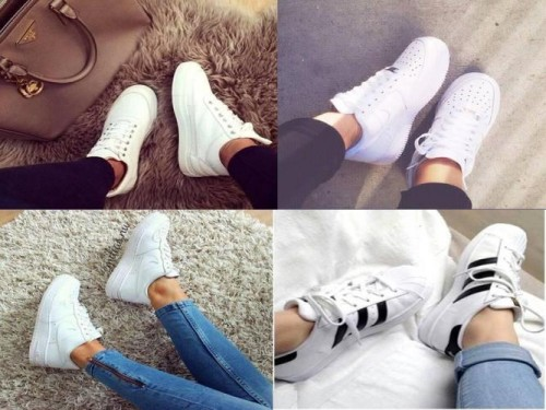 white adidas collection