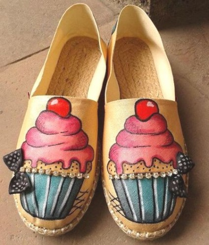 Hand Painted Cupcake Espadrilles