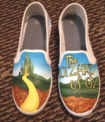 Wizard of oz hand painted shoes