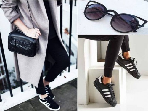adidas in black - How To Style Your Adidas Shoes – Just Trendy Girls