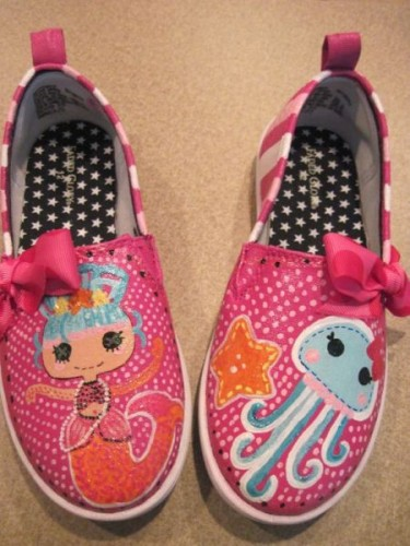and Painted Shoes Inspired by Lalaloopsy