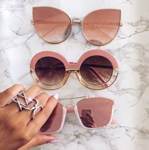 blush nude mirror sunnies
