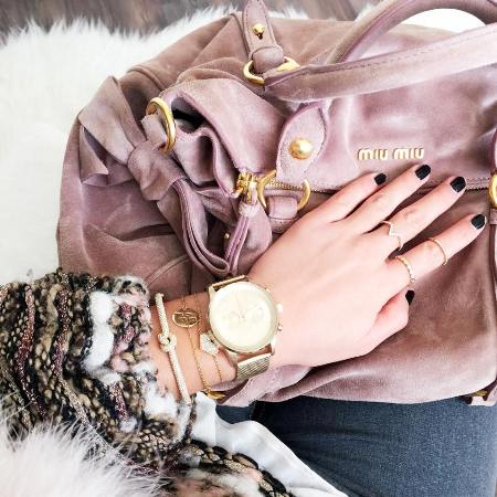chic watch outfit