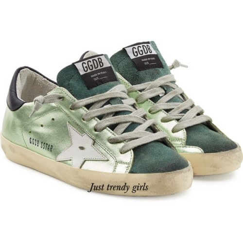 golden ghoose sneakers green