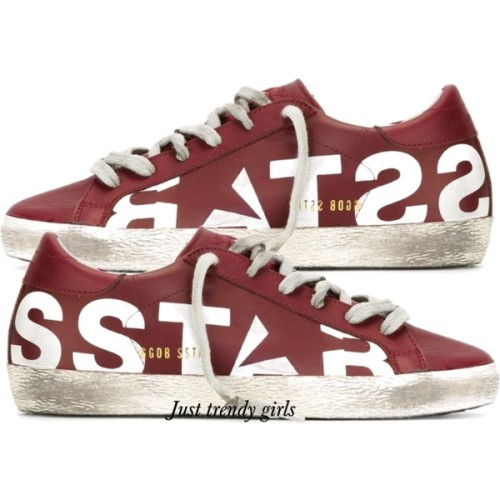 golden ghoose sneakers maroon