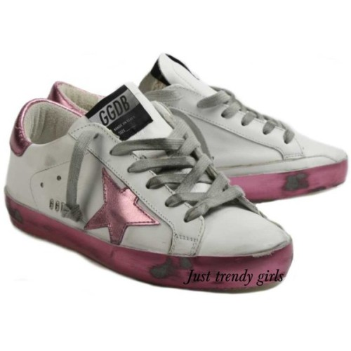 golden ghoose sneakers pink