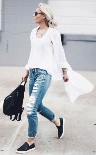 Casual Outfits Ideas With Slip On Shoes Just Trendy Girls