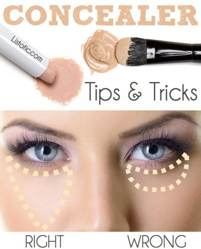 makeup tricks how to pud concealer