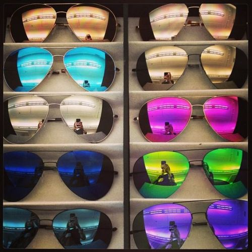 mirror sunglasses in store