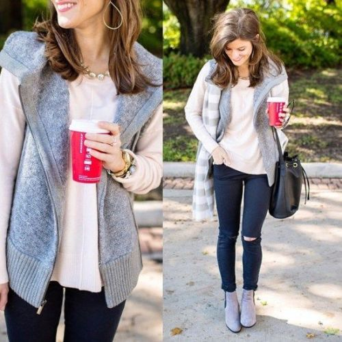 neutral vest casual style