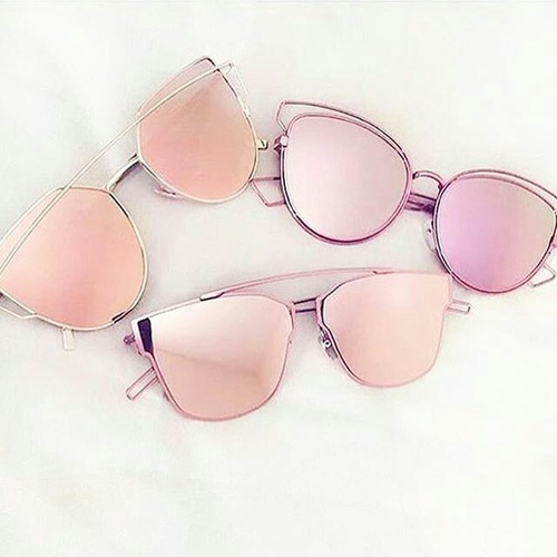 pink blush mirroe sunglasses