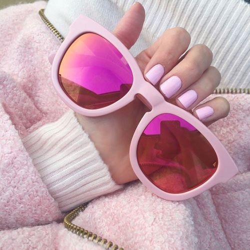 pink mirror sunglasses