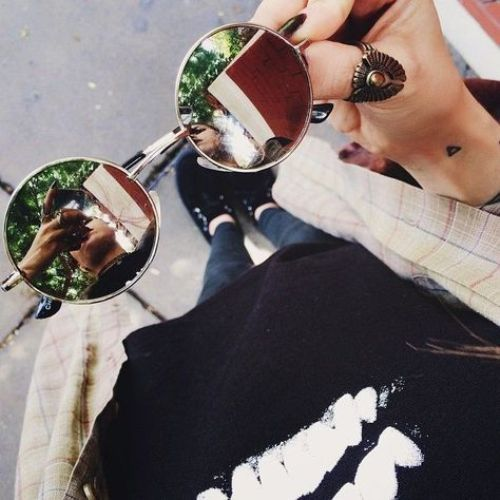 rust color sunglasses