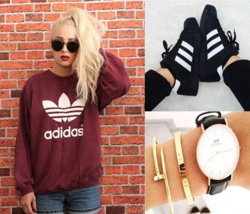 rusty adidas sweater