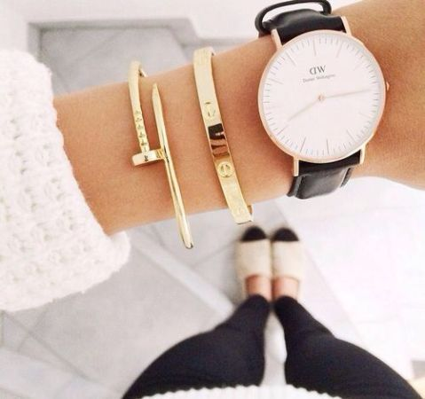 simple bracelets with watch