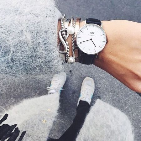 watch  with cardigan outfit