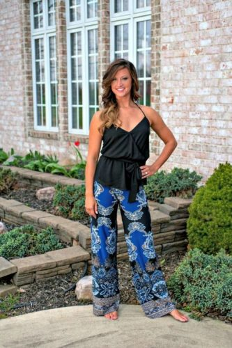 Black and Blue Palazzo Pants